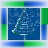Arbre de miroitement de Noël Image libre de droits
