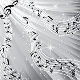 Arbre de musique. Images libres de droits