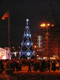 Arbre de Noël à Donetsk image stock