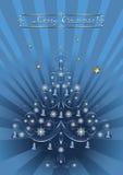 Arbre de Noël à jour avec des cloches Images libres de droits