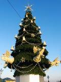 Arbre de Noël à Moscou Images libres de droits