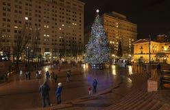Arbre de Noël à Portland, OU Photos stock