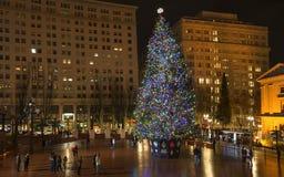 Arbre de Noël à Portland, OU Image stock