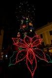 Arbre de Noël à San Juan Images libres de droits
