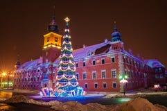 Arbre de Noël à Varsovie Photo libre de droits