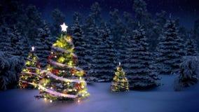 Arbre de Noël éclairé illustration stock