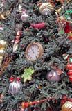Arbre de Noël élaboré Photographie stock