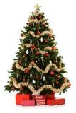 Arbre de Noël étant installé de 16 séries d'image Photo libre de droits