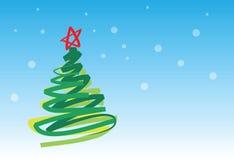 Arbre de Noël 1 de carte de Noël 6 Illustration Stock
