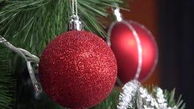 Arbre de Noël banque de vidéos
