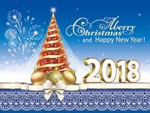 Arbre 2018 de Noël Image stock