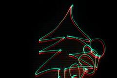 Arbre de Noël 2020 abrégez le fond Rouge et vert image libre de droits