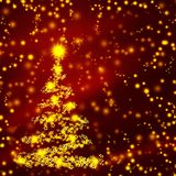 Arbre de Noël abstrait Photos stock