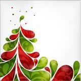 Arbre de Noël abstrait Photographie stock libre de droits