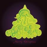 Arbre de Noël abstrait Image libre de droits