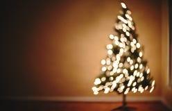 Arbre de Noël abstrait brouillé Images libres de droits