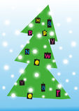 arbre de Noël abstrait de beauté Image stock