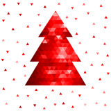 Arbre de Noël abstrait de mosaïque Images stock