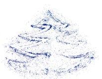 Arbre de Noël abstrait de scintillement bleu, fond de fête Photo stock