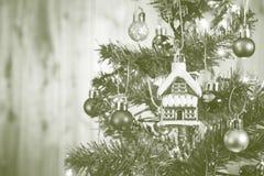 Arbre de Noël abstrait de tache floue Image libre de droits