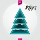 Arbre de Noël abstrait fait à partir de les morceaux bleus Vecteur Images stock