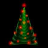 Arbre de Noël abstrait fait de triangles vertes Fond de carte de voeux illustration libre de droits