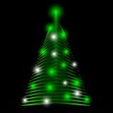 Arbre de Noël abstrait fait de triangles vertes Fond de carte de voeux illustration de vecteur