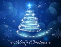 Arbre de Noël abstrait de lumière Photo stock
