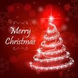 Arbre de Noël abstrait de lumière Photos libres de droits
