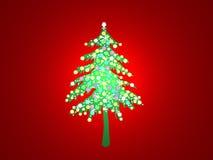 Arbre de Noël allumé Images stock