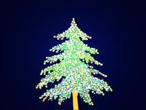 Arbre de Noël allumé Image stock