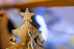 Arbre de Noël argenté Images stock
