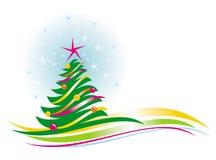 Arbre de Noël avec des babioles Photo libre de droits