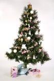 Arbre de Noël - avec des cadeau-cadres Photographie stock libre de droits