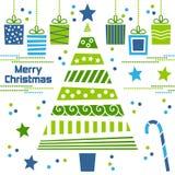 Arbre de Noël avec des cadeaux illustration libre de droits