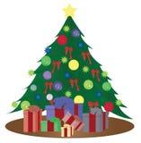 Arbre de Noël avec des cadeaux Photos stock