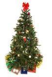 Arbre de Noël avec des cadeaux d'isolement image stock