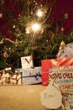 Arbre de Noël avec des cadres photo libre de droits