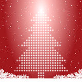 Arbre de Noël avec des flocons de neige Illustration de Vecteur