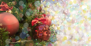 Arbre de Noël avec des jouets photo stock