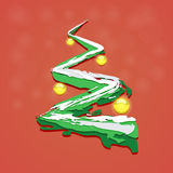 Arbre de Noël avec des jouets de Noël Photos libres de droits
