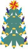 Arbre de Noël avec des smiley sur le fond foncé illustration de vecteur
