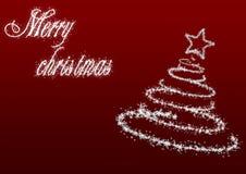 Arbre de Noël avec inscription_red Photographie stock