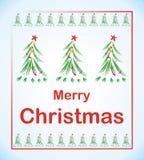 Arbre de Noël avec l'étoile Photographie stock libre de droits