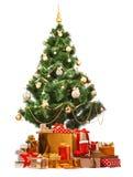 Arbre de Noël avec l'illustration de gifts Photo stock