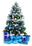 Arbre de Noël avec l'illustration de gifts Photos stock