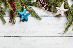 Arbre de Noël avec la décoration Photo stock