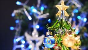 Arbre de Noël avec la lueur clips vidéos