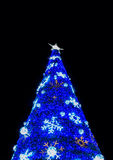 Arbre de Noël avec la lumière Photos libres de droits