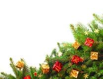 Arbre de Noël avec le décor Image libre de droits